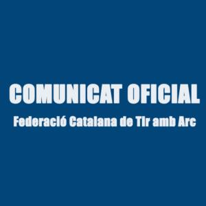 COMUNICAT SOBRE ELS CAMPIONATS DE CATALUNYA